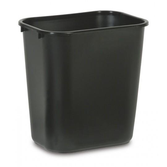 Afvalbak rechthoekig 26.5ltr zwart