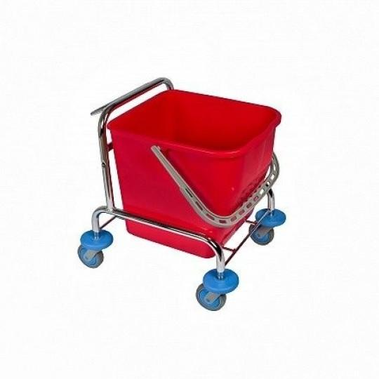 enkele rolemmer chroom met pers rood - 25 liter
