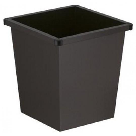 Vierkant taps papierbak 27 ltr. zwart