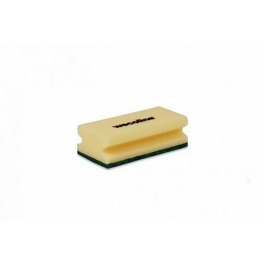 Schuurspons met grip geel/groen (1 stuk)