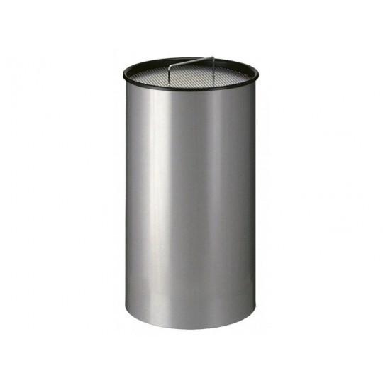 Ronde zandasbak 50 ltr. grijs metaal