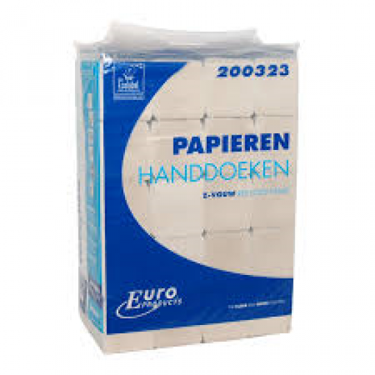 Euro ECO Handdoekpapier Z-Vouw recycled tissue (20x190st.)