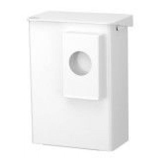 Afvalbak Santral 6ltr wit RVS met hygiënezakhouder rond