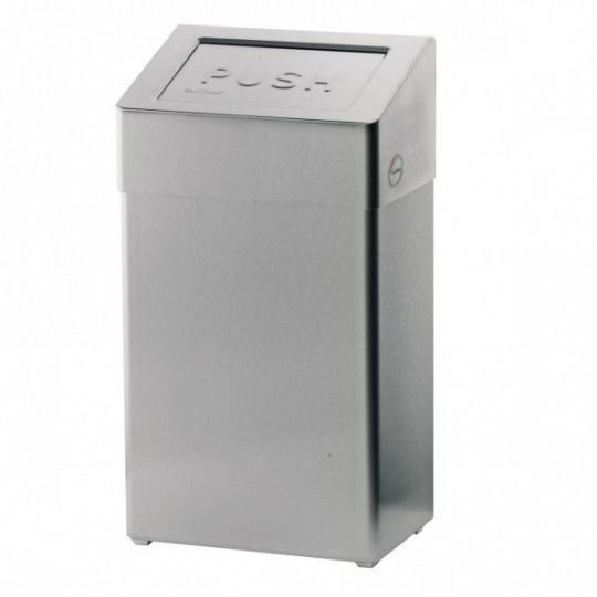 Santral afvalbak RVS 18ltr met deksel