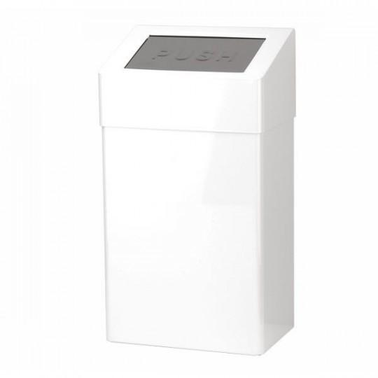 Santral afvalbak 18ltr wit RVS met deksel