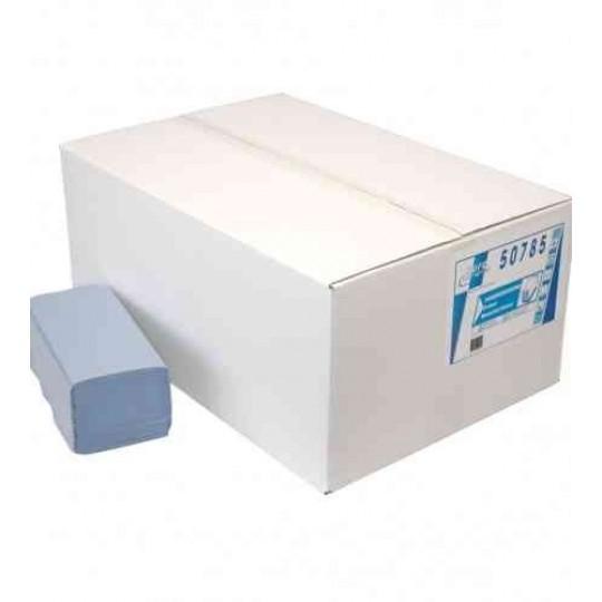 Euro Handdoekpapier Z-fold, blauw 1-lgs (20x 250 doekjes)