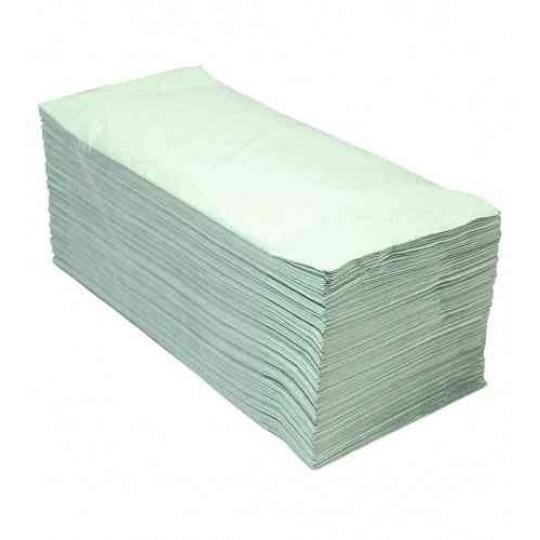 Euro Handdoekpapier Z-fold, groen 1-lgs (20x 250 doekjes)