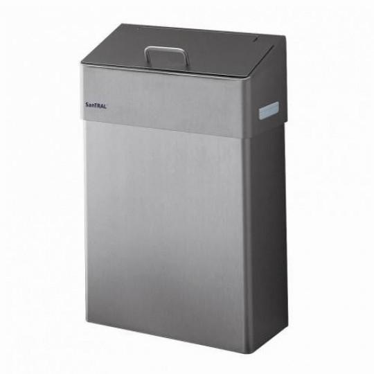 Santral hygienebak 10 ltr gesloten inwerpklep, RVS mat
